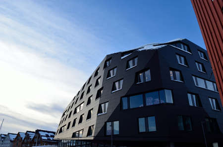 costal: the building kystens hus, coast house,  in tromso city