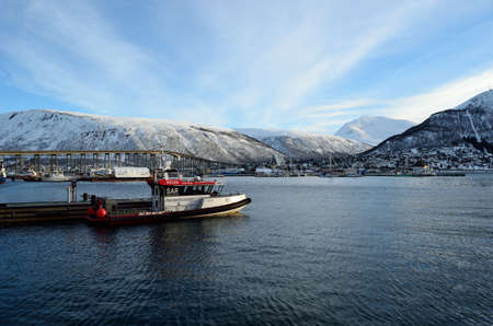 docked: redningsselskapet, rescue company boat docked in tromso