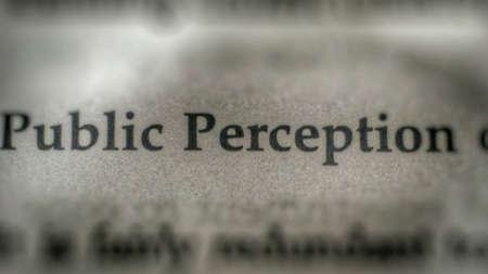 perception: Public perception text on paper