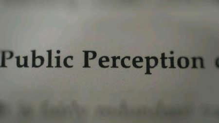 percepción: La percepción pública de texto en el papel