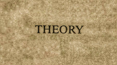 theory: Theory word written on paper Stock Photo