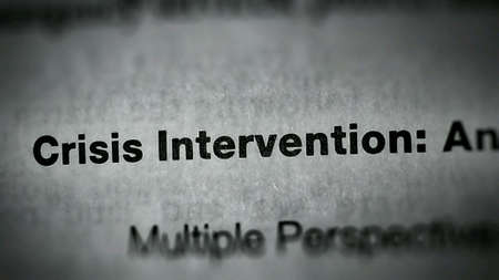 intervention: Crisis intervention text on paper