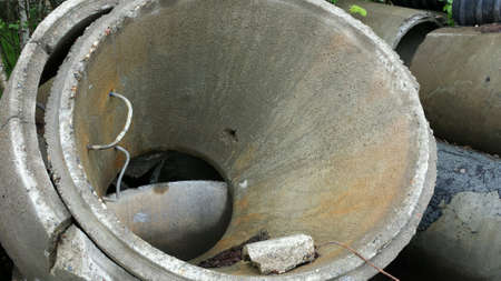 industry: Massive coned concrete sewer lid