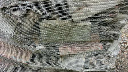 net: Firewood in sack outside