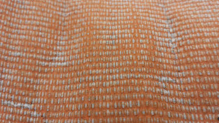 duty: Weathered heavy duty orange tarp background texture Stock Photo