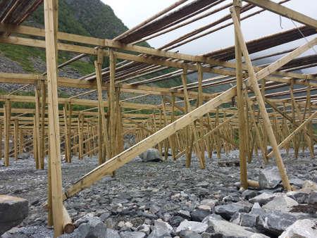 stockfish: big empty stockfish structure in summer Stock Photo