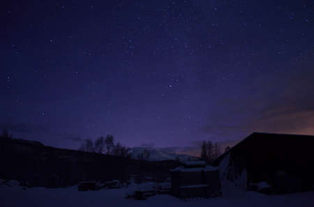 scrapyard: star and winter mountain at scrapyard