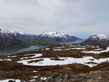 Majestic overview of the whale island northern Norway