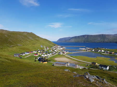 Small settlement of Skarsvaag, northcape county, northern Norway