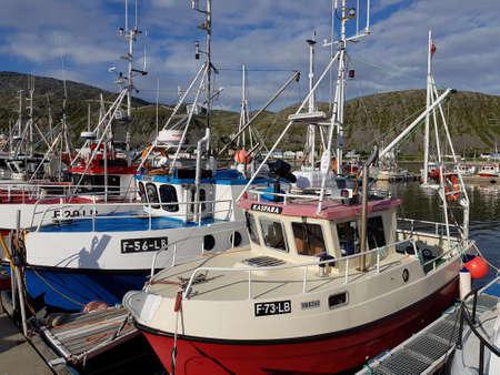 KJOLLEFJORD, NORWAY JUNE 26 2018: Kjollefjord settlement in northern norway, finnmark