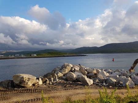 KJOLLEFJORD, NORWAY JUNE 26 2018: kjollefjord in northern norway in summer