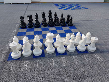 huge chess pices on floor