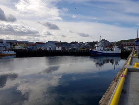 BERLEVAAG, NORWAY JULY 27, 2018 - Berlevaag fishing village in northern norway