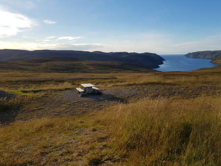 majestic barren wild nature on the mageroyisland in northcape county, norway