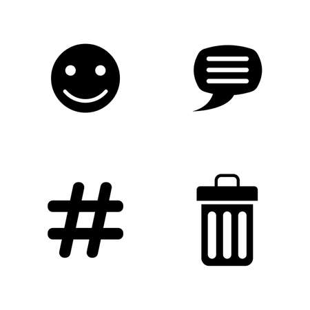 time sharing: Simple Related Vector Icons Set