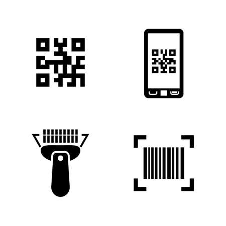 qrcode: Simple Related Vector Icons Set