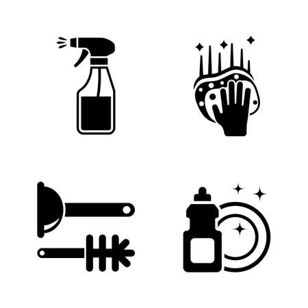 Clean Surface. Simple Related Vector Icons Set for Video, Mobile Apps, Web Sites, Print Projects and Your Design. Black Flat Illustration on White Background.