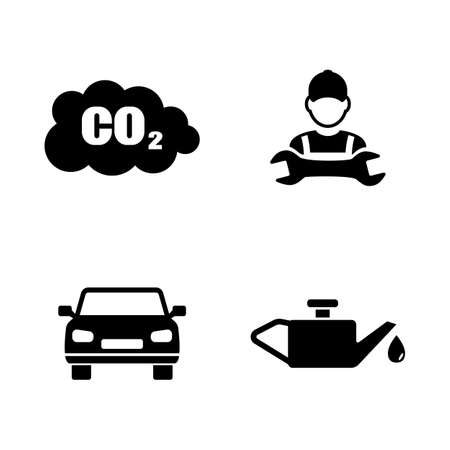 auto repair: Car service. Simple Related Vector Icons Set for Video, Mobile Apps, Web Sites, Print Projects and Your Design. Black Flat Illustration on White Background.
