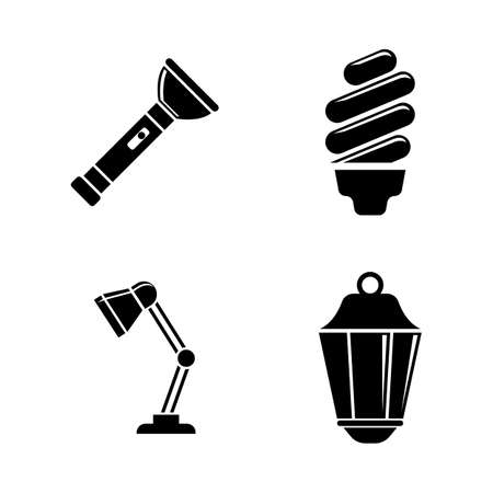 Light Source. Simple Related Vector Icons Set. Illustration