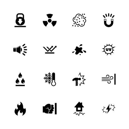 Influence icons - Expand to any size - Change to any colour. Flat Vector Icons - Black Illustration on White Background.