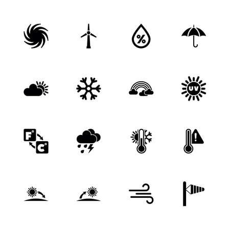 Weather icons vector design Ilustração