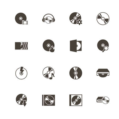 Compact disk icons. Illustration
