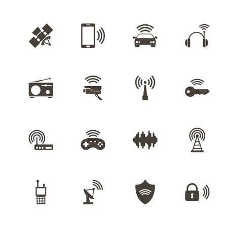 Radio icons Ilustração