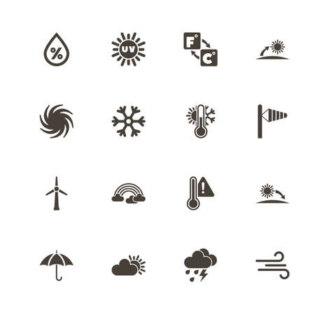 Weather icons. Perfect black pictograph on white background. Flat simple vector icon.
