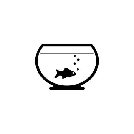 Fish. Aquarium vector icon. Simple flat symbol on white background