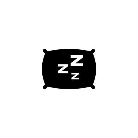 Pillow vector icon. Simple flat symbol on white background