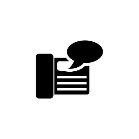Fax Machine, Answering vector icon. Simple flat symbol on white background