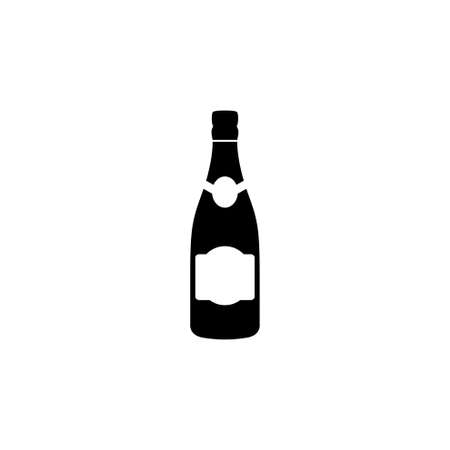 Prosecco bottle vector icon. Simple flat symbol on white background