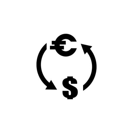 Exchange Money vector icon. Simple flat symbol on white background