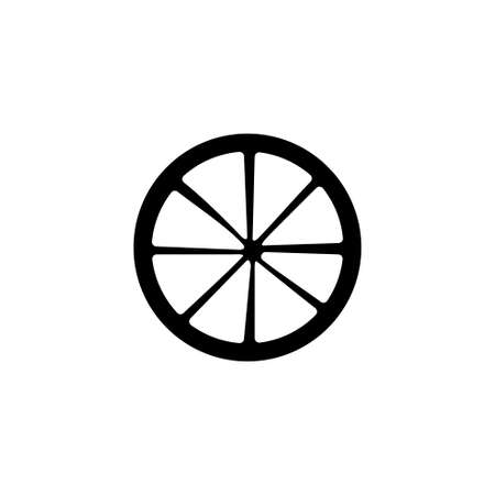 Cart Wheel vector icon. Simple flat symbol on white background