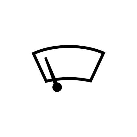 Car Windscreen Wiper vector icon. Simple flat symbol on white background
