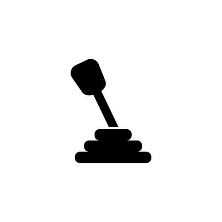 Manual Car Transmission vector icon. Simple flat symbol on white background