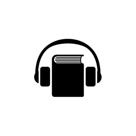 Audio Guide flat Vector Icon. Simple black symbol on white background