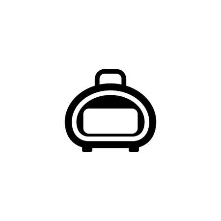 Suitcase for Animals - pet carrier. Flat Vector Icon. Simple black symbol on white background Illustration