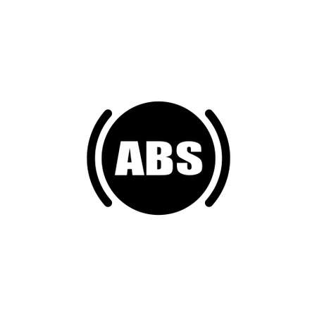 ABS. Flat Vector Icon. Simple black symbol on white background