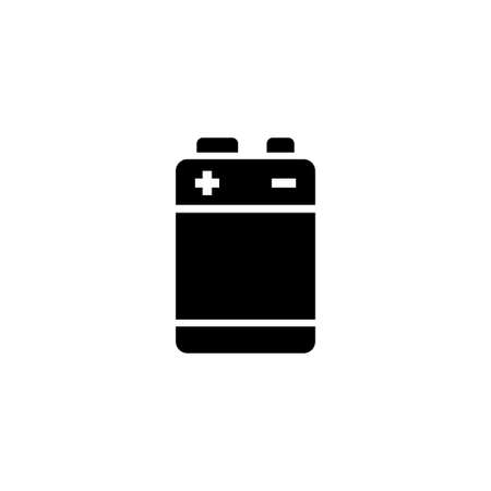 Alkaline Battery. Flat Vector Icon.