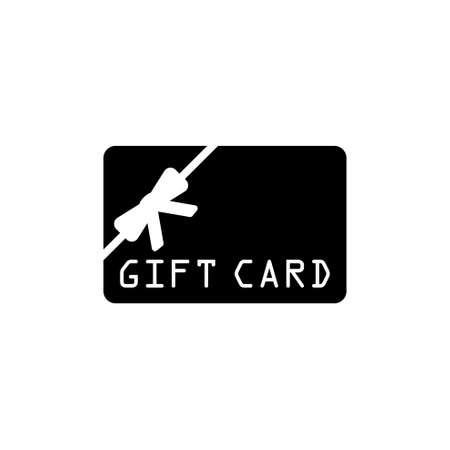 Gift Card. Flat Vector Icon. Simple black symbol on white background Illustration