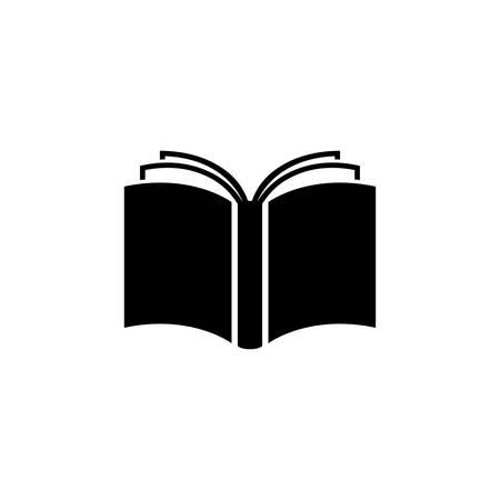 Open Book Flat Vector Icon. Vettoriali
