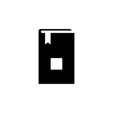 Bible Holy Book. Flat Vector Icon. Simple black symbol on white background 일러스트