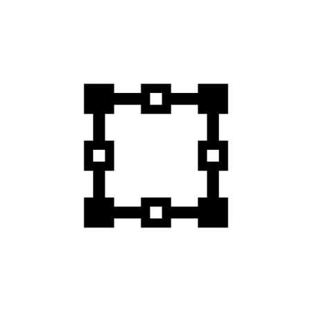 Architect Plan. Flat Vector Icon illustration. Simple black symbol on white background. Architect Plan sign design template for web and mobile UI element Ilustração