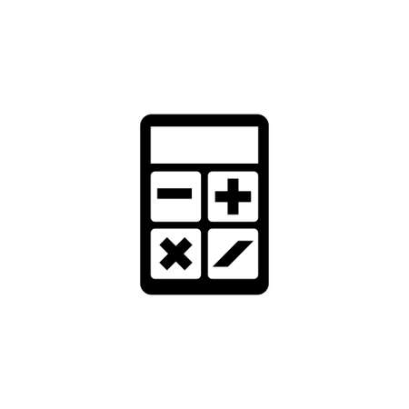 Calculator. Flat Vector Icon illustration. Simple black symbol on white background. Calculator sign design template for web and mobile UI element Stock Photo