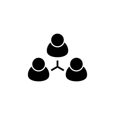 Group People, Team. Flat Vector Icon illustration. Simple black symbol on white background. Group People, Team sign design template for web and mobile UI element