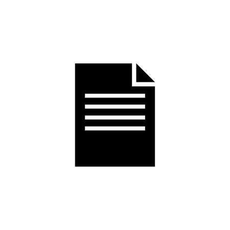 Contract Document. Flat Vector Icon illustration. Simple black symbol on white background. Contract Document sign design template for web and mobile UI element