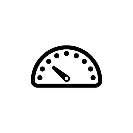 Speedometer, Car Speed Meter. Flat Vector Icon illustration. Simple black symbol on white background. Speedometer, Car Speed Meter sign design template for web and mobile UI element