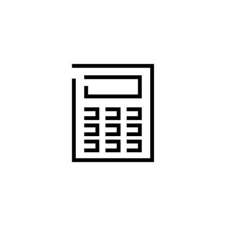 Intercom. Flat Vector Icon illustration. Simple black symbol on white background. Intercom sign design template for web and mobile UI element