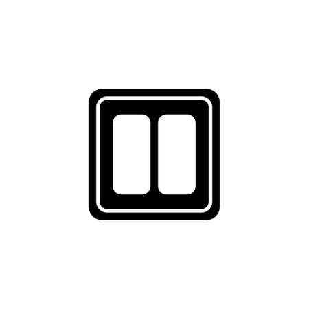 Electric Light Switch. Flat Vector Icon illustration. Simple black symbol on white background. Electric Light Switch sign design template for web and mobile UI element